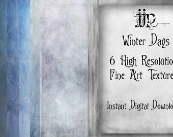Winter Days - Fine Art Photoshop Textures. High Resolution. Instant Digital Download.