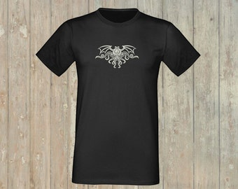 T-Shirt Cthulhu, glows in the dark! embroidered