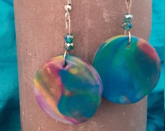 lagoon-made in polymer clay - fimo jewelry earrings