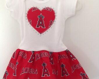 Anaheim Angels Inspired Dress