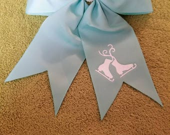 Customized hair bow with hair tie
