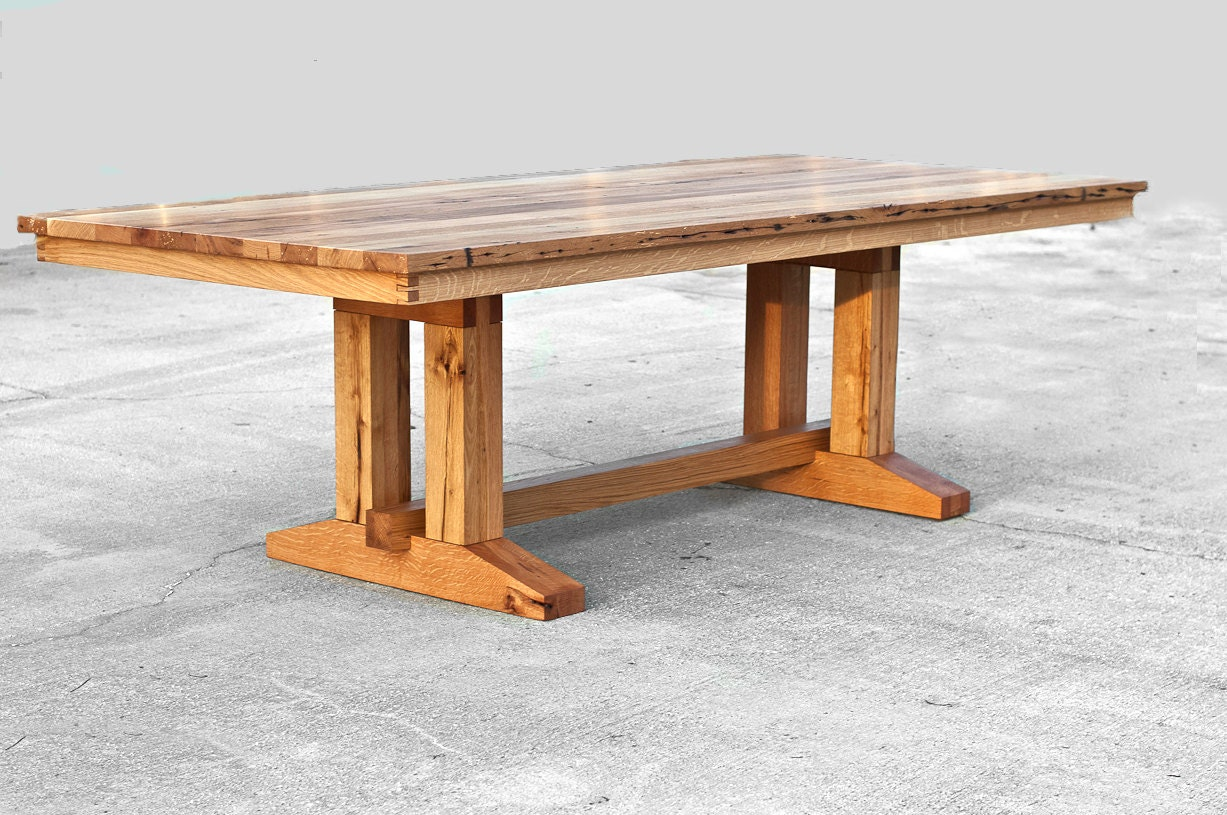 side barnwood table feicht made custom barn crafted co wood by reclaimed barns hand