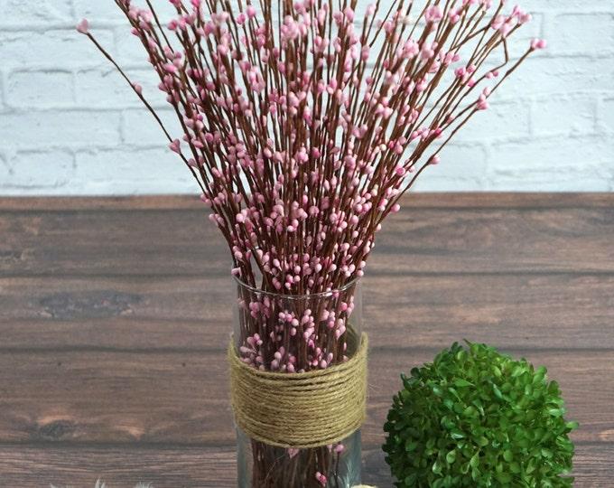 Light Pink berry spray (5 stems)