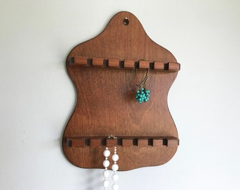 Wood jewelry rack Etsy