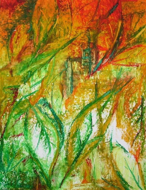 Autumn Leaves Small Abstract Leaves Drawing Nature Art Wall