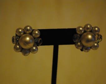 Faux Pearl bead clip on earrings