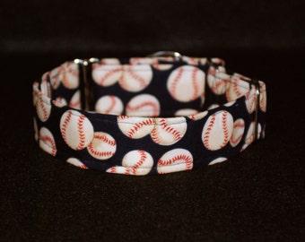 Martingale Dog Collar with Baseballs