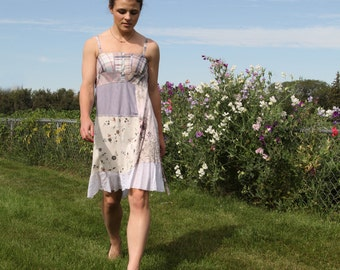 upcycling Kleid XS - S Upcycled Kleidung, upcycling Mode Sommerkleid. Perdue
