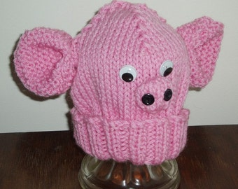 Handmade Child's Pig Hat