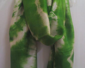 Infinity scarf/Green scarf/ Silk scarf/Rectangle scarf/Christmas special scarf/Women scarf/Spring autumn fall fashion/Gifts for her/Scarves