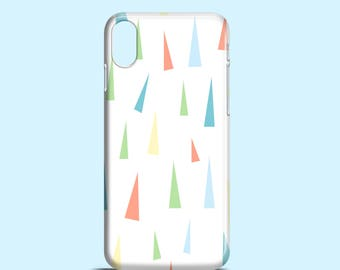 Pastell-Dreiecke Telefon Fall / Pastell iPhone X Fall / funky iPhone 8 Fall / iPhone 8 Plus, iPhone 7, 6, 6 s, SE Samsung Galaxy S7, S6, S6 Edge