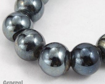 8mm Black Luster Bead (50 Pcs) #3429