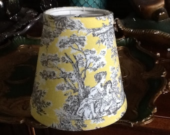Waverly lampshade etsy chandelier lampshade lemon yellow and black french toile shade wall sconce waverly rustic life mozeypictures Image collections
