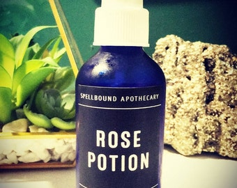 Rose Potion -- Bulgarian Rose Water, Organic Rose Hydrosol, Steam-Distilled, Pure, Undiluted Rosewater, Rose Toner, Supports Youthful  Skin
