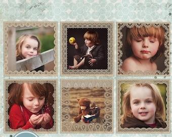 ON SALE NOW Digital Frames - Photoshop Template -  Instant Download