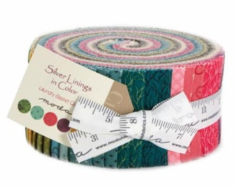 Silver Linings In Color Jelly Roll by Laundry Basket Quilts for Moda