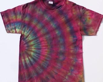 Medium  Tie Dye T Shirt, Tie Dye, Hippie, festival, men's or women's T Shirt, One of a kind