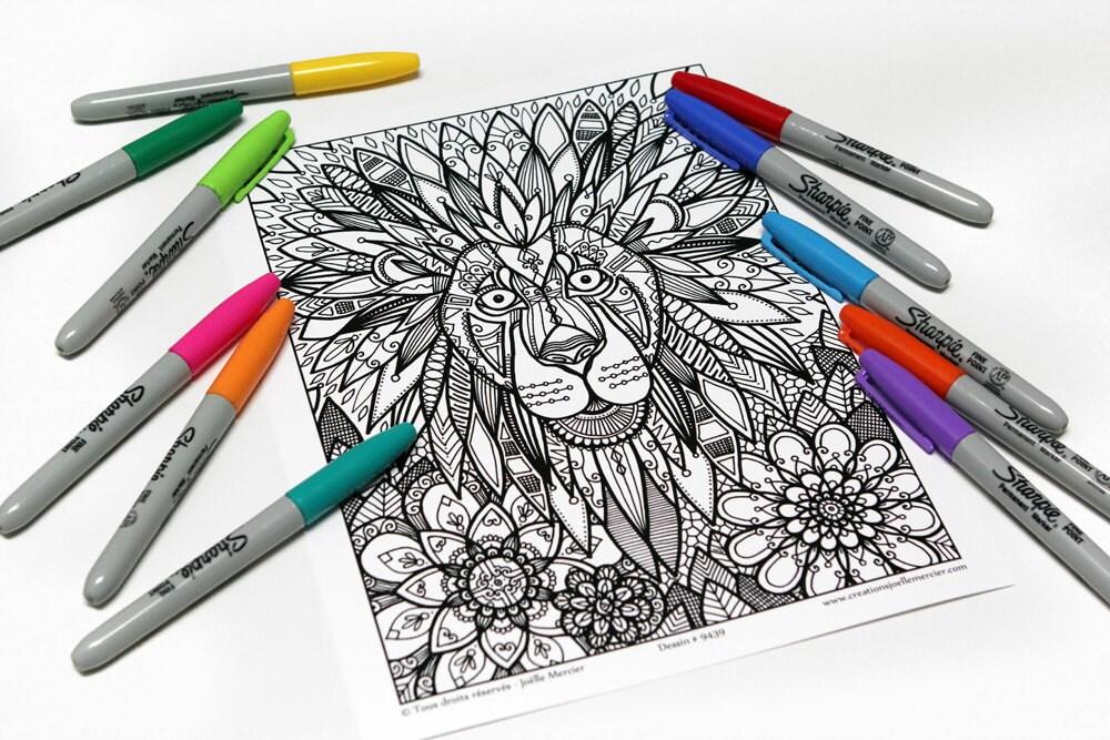 Mandala-Färbung Zeichnung 9439 gedruckt auf Karton Färbung