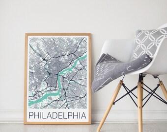 Philadelphia Map / Philadelphia Poster / Philadelphia Print / Philadelphia Wall Art / Travel Poster/ City Map Print/ Philadelphia Decor