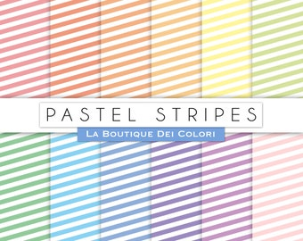 Pastel Stripes digital paper, Stripes, Candy Stripes patterns pastel vintage backgrounds Download Commercial Use