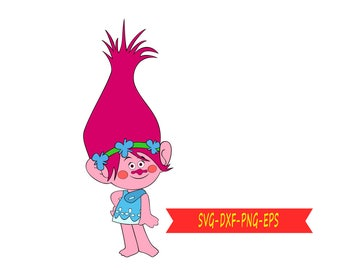 Trolls Movie Clipart Black And White Images Gallery. Trolls Movie Clip Etsy  Rh Etsy Com