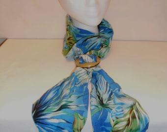 Blue Hawaiian slide scarf