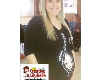 Funny maternity shirt t-shirt PEEK A BOO cm278 MATERNITY tee-shirt
