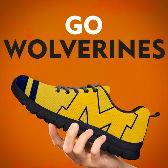 Running Kids Gift Football Sneakers Michigan Sizes Gift Wolverines Shoes Collector Trainers Gift Mens Womens Custom Zwwx5f1gq