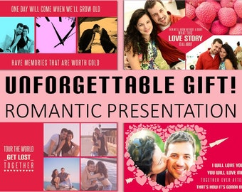 Valentines Gift - Gift for wife - Gift for Girlfriend - Unique Anniversary Gift, Romantic Photo Presentation, Special Gift