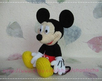Mickey mouse 10 inches - PDF amigurumi crochet pattern