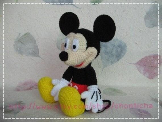 Amigurumi Mouse Pattern Crochet : Mickey mouse 10 inches pdf amigurumi crochet pattern