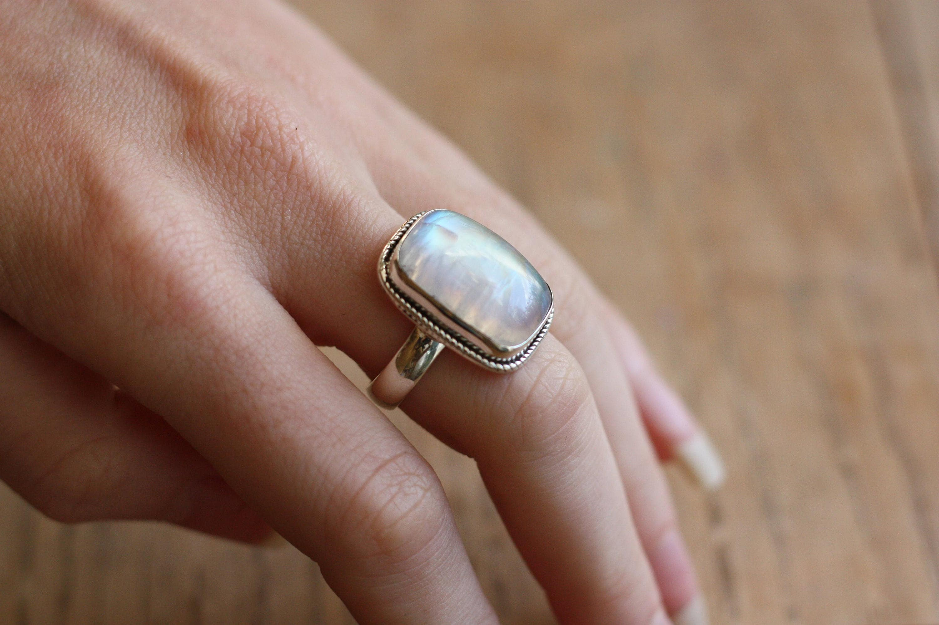 boho sterling products nightshade dixi share rainbow shop rings silver ring moonstone