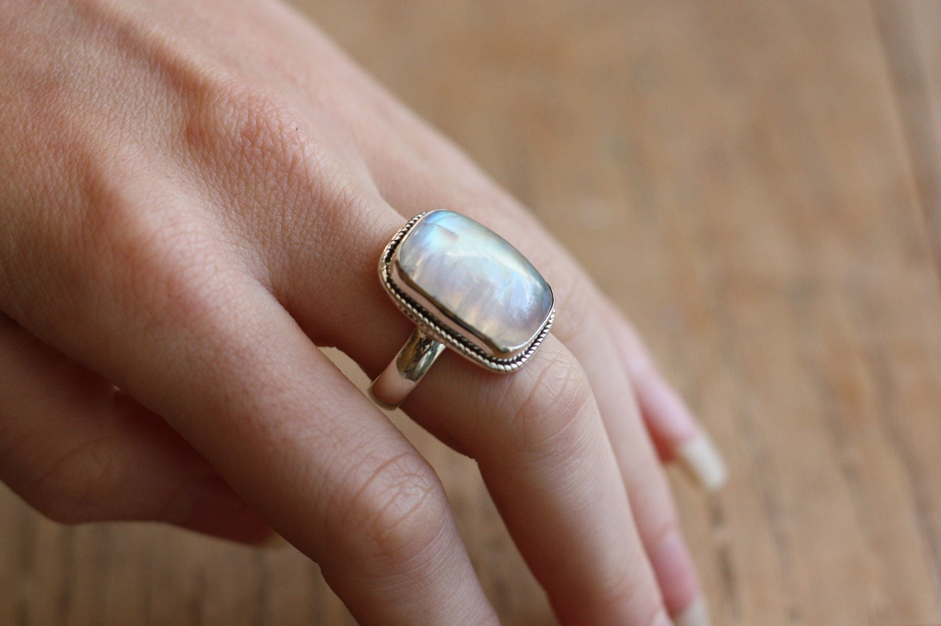 ring lune moonstone acbd products stargazer image indigo rainbow rings