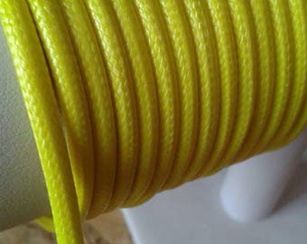 4mm yellow faux leather cord