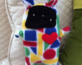 Gerald ~ The Bunny Bummlie ~ Stuffing Free Dog Toy ~ Ready To Ship Today