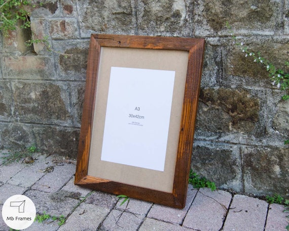 Rustic picture frame- A3 standard size- Vintage wood- Reclaimed home ...