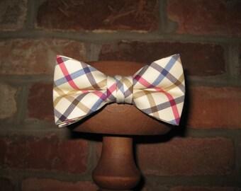 Multi Windowpane Boys Bow Tie~Boys Bow Tie~Cotton Bow Tie~Wedding Tie