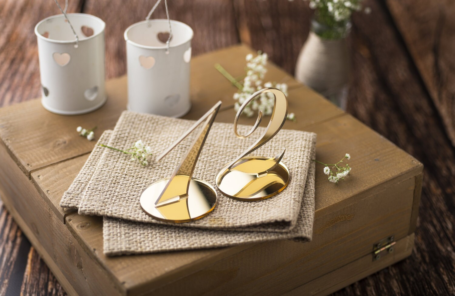 Wedding Table Numbers for Wedding centerpieces Gold Mirror