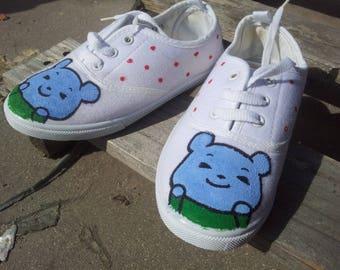 kids bear trainers kawaii cute bear shoes girl's shoes boy's shoes funny sneakers