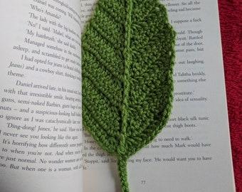 Leaf Crochet Bookmark