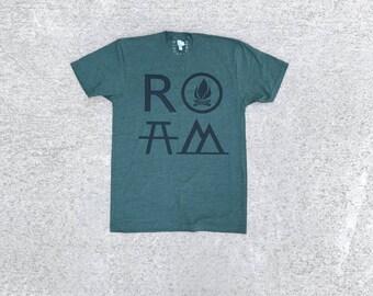 Adventure T Shirt, Unisex Shirt, Travel Gift, Clothing Gift Dad, BlackbirdSupply Tshirt, Made in USA T-Shirt, Screen Print