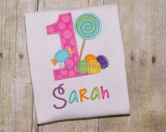 Candy Land Birthday Numbers Embroidery Set - Instant Download