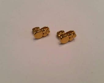 Vintage Monet Gold Earrings