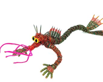 Spiked Copper Crawler - Bendable Copper Wire Creature - fun, unique, fully poseable! Hand-made out of recycled & repurposed materials.