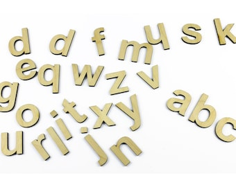 Small lowercase 26 Wooden Alphabet Letters / Wall Hanging / Nursery Decor / Alphabet Wall
