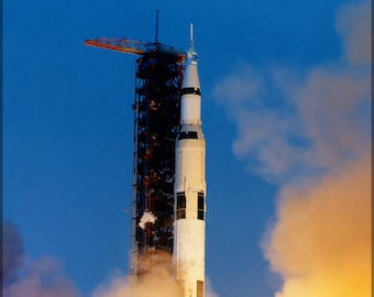 Poster, Many Sizes Available; Apollo 13 Launches From Kennedy Space Center, April 11, 1970