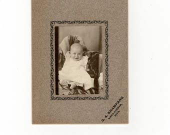 Baby, antique cabinet card photo