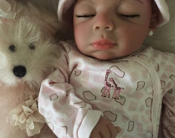 Completed Biracial Andrea Completed Reborn Baby Doll from the Baylee 21 inch kit