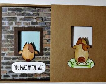 Happy Dog, Dog Love, Cute Dog Card, Dog Birthday Card, Dog Mothers Day, From The Dog, Pet Card, Fathers Day, Dog Mom, Fun Birthday Card,Dad