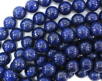 "12mm blue lapis lazuli round beads 15.5"" strand 31021"
